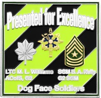 Presented For Excellence - Marine Intel Dog Face Soldiers-Back