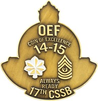 17th CSSB Coin Of Excellence - Back
